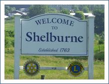 Welcome to Shelburne Sign