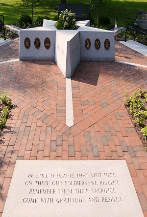 Veterans' Memorial with Poem
