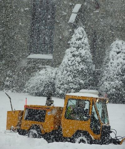 snow day sidewalk plow